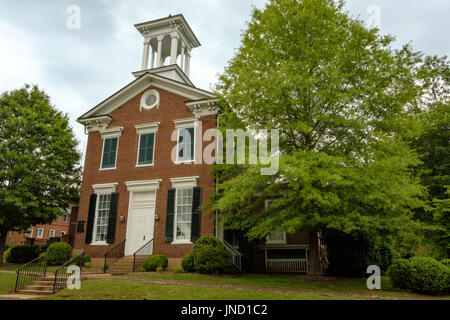 Small Town Street United States Church Stock Photos