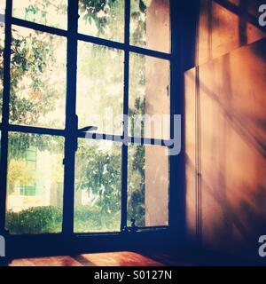 Beautiful window light. - Stock Image