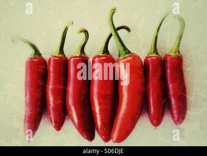 Serrano Chile Peppers - Stock-Bilder