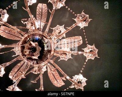 Elegant glass chandelier - Stock-Bilder