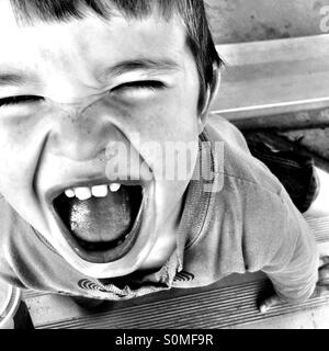 Little boy with a big happy smile. - Stock Image