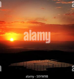 Sunset over Silicon Valley - Stock Image