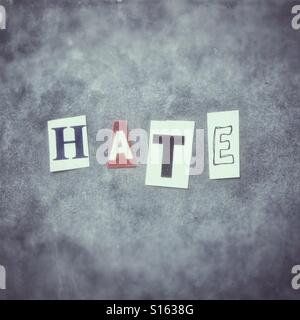 Hate - Stock Image