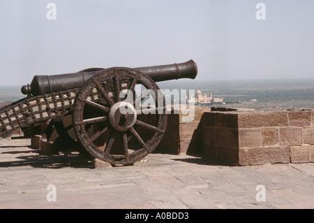 Cannon, Meherangarh fortress. Jodhpur, Rajasthan, India. - Stock Image