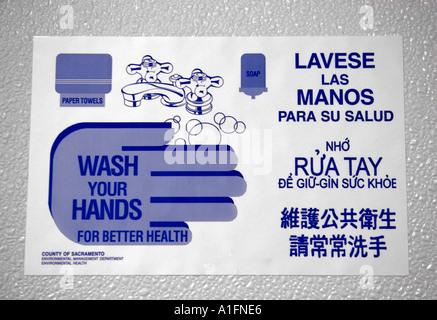 Bathroom Signs In Spanish spanish english language stock photos & spanish english language