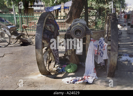 A cannon on the streets of Jaipur. Rajasthan, India. - Stock Image