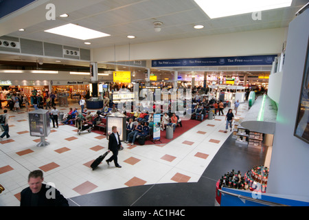 gatwick airport london england uk north terminal departure lounge shopping shop duty free tax free people