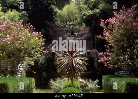 churriana bei malaga retiro garten jardin cortesano la cascada stock image