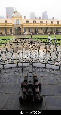 Ships cannon inside courtyard of Castle of Good Hope, Cape Town, South Africa - Stock Image