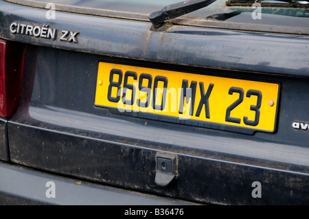 Car Number Plate Stock Photos Car Number Plate Stock Images
