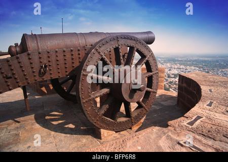 RSC 66381 : Cannon in Mehrangarh Fort ; Jodhpur ; Rajasthan ; India - Stock Image