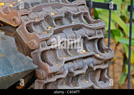 The M48 Patton Tank of the Pakistan Army used in India-Pakistani War of 1965, Cannon in a Garden, Pune, Maharashtra, - Stock Image