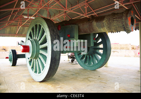 biggest world record cannon on wheels in Jaigarh fort ; Jaipur ; Rajasthan ; India - Stock Image