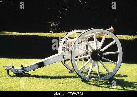 SDB 83293 : old antique cannon gun tamil nadu india - Stock Image