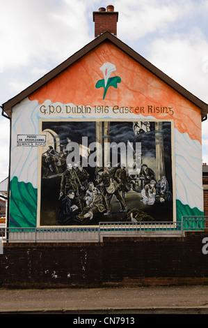 Belfast wall murals stock photos belfast wall murals for Easter rising mural