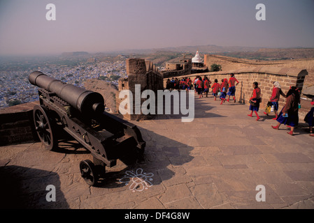Cannons in Jodhpur fort. Rajasthan, India - Stock Image