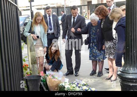 St James Square, London, 17 April 2014, WPC Yvonne Fletcher's mother ...