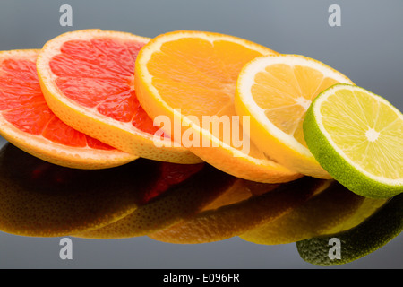Lime And Orange Slices Stock Photos Lime And Orange Slices Stock