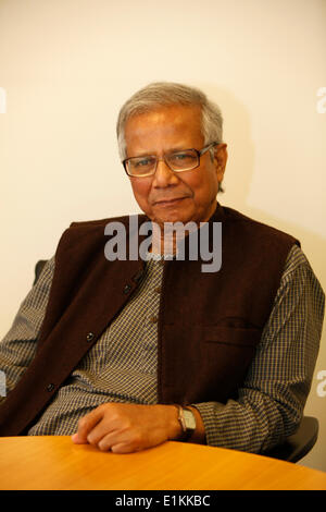 nobel prize winner muhammad yunus who founded the grameen bank stock image