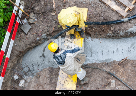 Birds eye view stock photos birds eye view stock images for Best weather to pour concrete