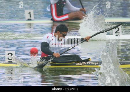 komatsu asian singles Yasuhiro suzuki of japan reacts after competing in the canoe sprint men's kayak single 1000m during the guangzhou asian  komatsu had been banned .
