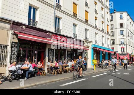 Cafe terrace paris france stock photos cafe terrace paris france stock images page 12 alamy - Restaurant quai de valmy ...