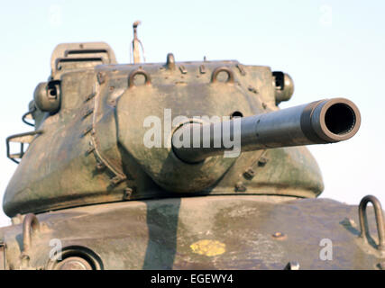 Closeup shot of M47 Patton tank  on Tankbund road ,Hussain sagar,Hyderabad,AP,india. - Stock Image