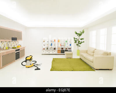 Cleaner stock photos cleaner stock images alamy for Clean modern living room