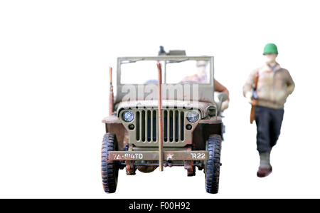 Jeep stock photos jeep stock images page 8 alamy soldiers and jeep plastic models isolated on a white background stock image sciox Gallery