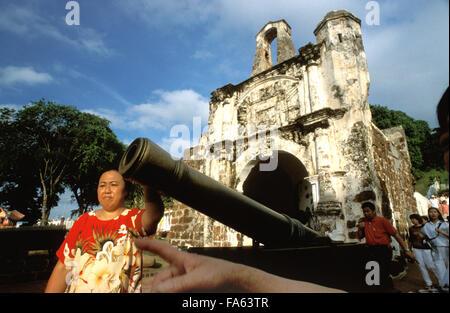Malaysia Melaka A Famosa Portuguese fort gate, Malaysia. - Stock Image