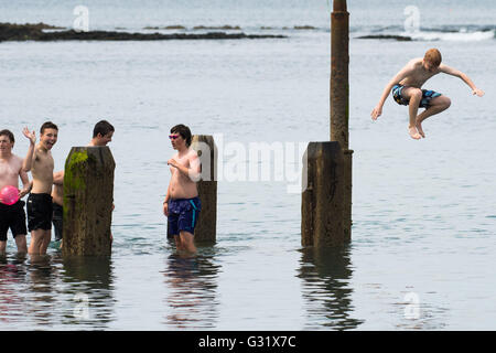 A Young Boy Swimming Stock Photos A Young Boy Swimming