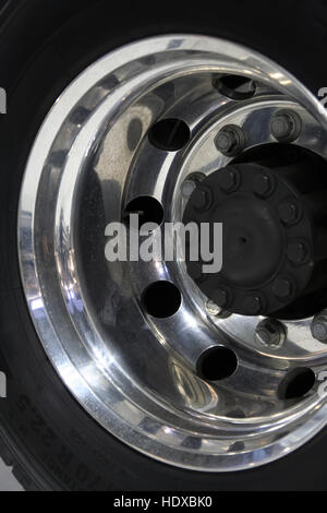 brand new truck tire new tires new truck tires stock image