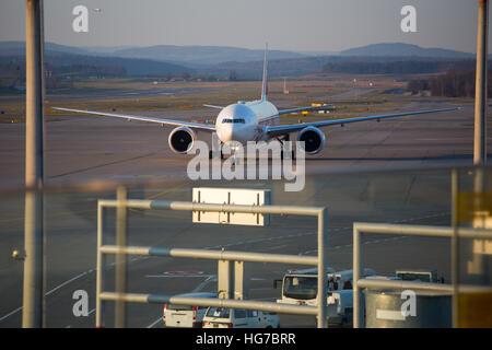 zurich december 3 planes preparing for take off at the zurich international airport