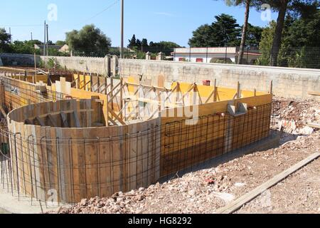 Reinforcing stock photos reinforcing stock images alamy for In ground swimming pool contractors