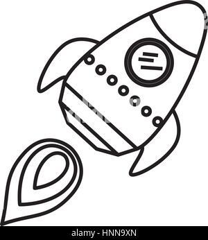 rocket spaceship cartoon icon vector illustration graphic design stock image - Coloration Hnn