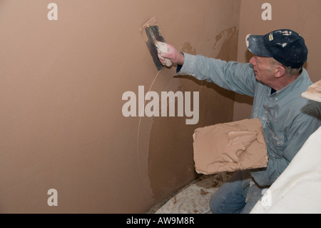 plasterer stockfotos plasterer bilder seite 5 alamy. Black Bedroom Furniture Sets. Home Design Ideas
